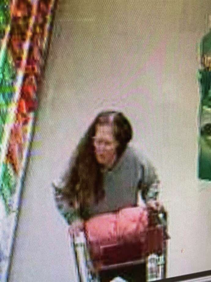 The suspect was caught on surveillance footage shared by police. Photo: Contributed Photo / Naugatuck Police Department