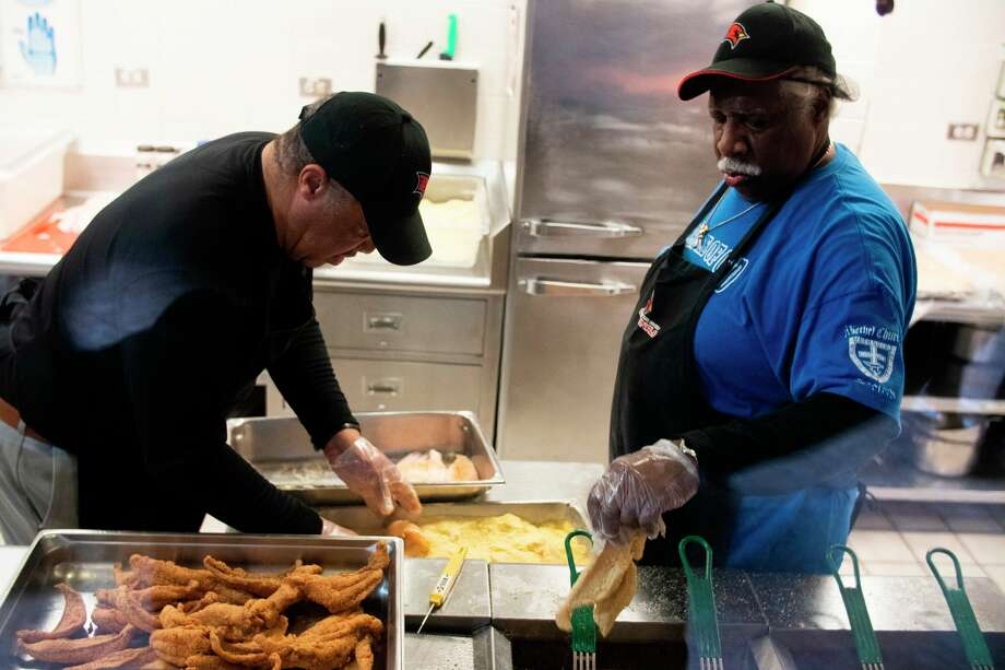 "Members of Bethel African Methodist Episcopal (A.M.E.) Church prepare food for the 2019 SVSU ""Taste of Soul"" food festival. The 2020 festival is planned for Feb. 19. (Photo provided/Michael Randolph, SVSU)"