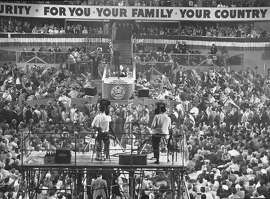 A scene from the 1952 Democratic Convention