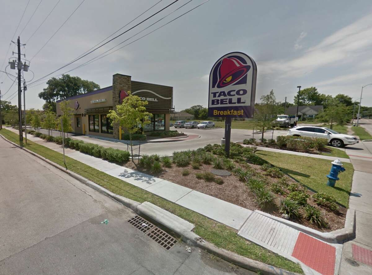 The Taco Bell at the corner of Lockwood Drive and Farmer Street in Houston is seen on Google Maps Street View in June 2017.