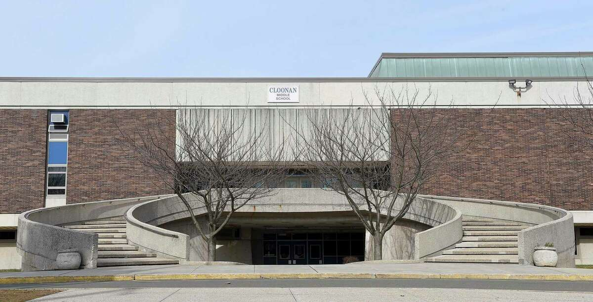 Cloonan Middle School, 11 West North St. in Stamford, Connecticut is photographed on Feb. 12, 2020. The school is one of five buildings considered for demolition.