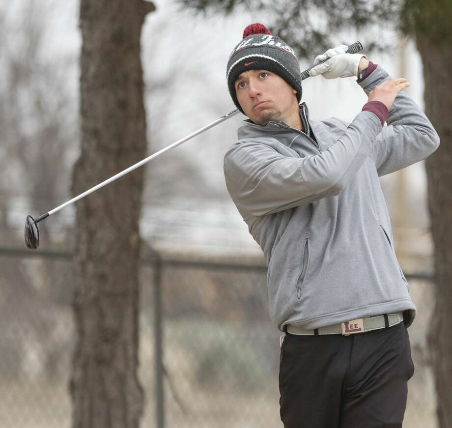 Lee High's Paul Gomez follows tee shot 02/14/2020 on the first day of the Tall City Boys Invitational at Ranchland Hills Golf Club. Tim Fischer/Reporter-Telegram Photo: Tim Fischer/Midland Reporter-Telegram