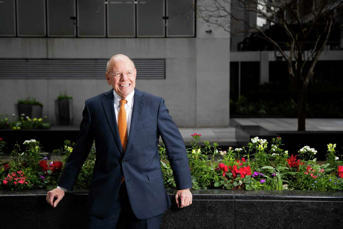 Downtown District president Bob Eury in the downtown's Main Street area on Wednesday, Jan. 29, 2020, in Houston.