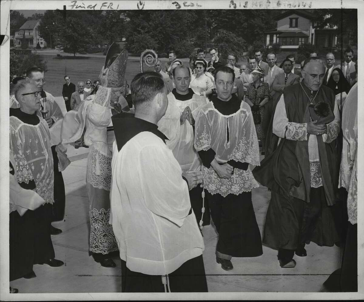 A procession takes place at a Siena College dedication in 1950. Read through for a look back at Siena's history in pictures.