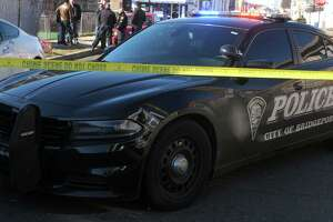 File photo of a Bridgeport, Conn., police cruiser, taken at the crime scene of the Feb. 14, 2020, homicide.