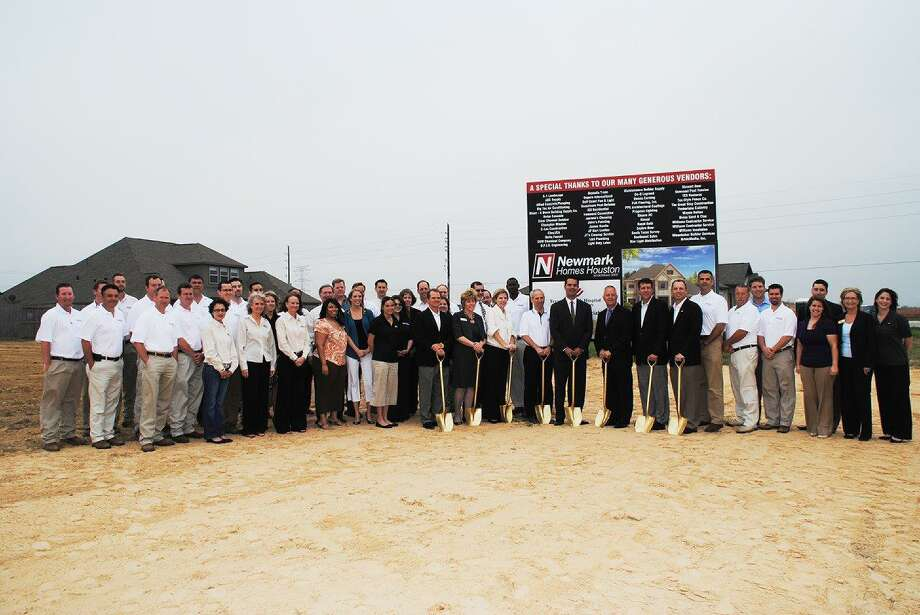 Newmark Homes and Caldwell Companies broke ground in Towne Lake on a Benefit Home in March of 2011.