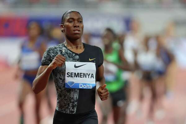 South Africa's Caster Semenya competes in the women's 800m during the IAAF Diamond League competition in Doha last year.