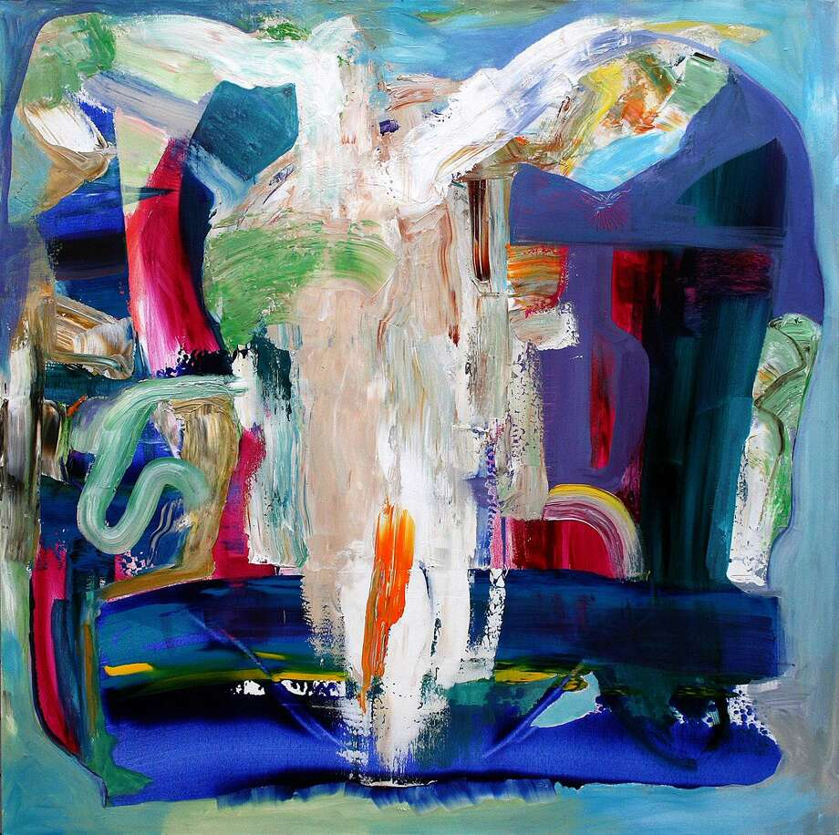 "Westport artist Jay Petrow's emotionally charged abstract expressionist paintings, influenced by raising a son with autism, are being featured in ""This Must Be The Place"" at Stamford's Mayor's Gallery March 3-April 28, with a reception March 12. Pictured is ""Holy Cow."" Photo: Mayor's Gallery / Contributed Photo"