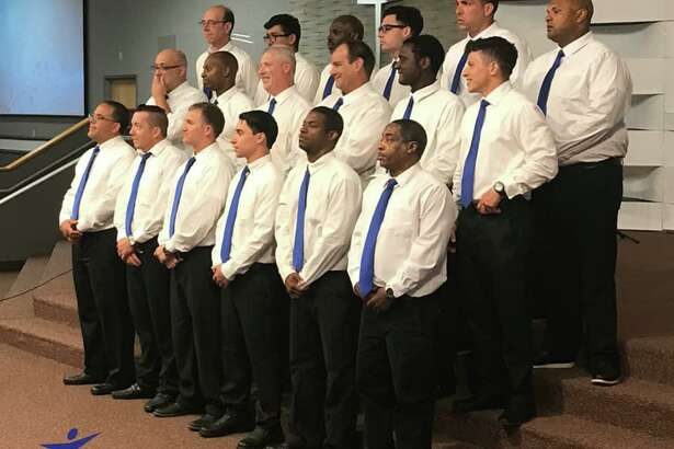 The Connecticut Adult & Teen ChallengeMen's Choir, a group of men who share in song and testimony, will perform at First Church of Christ Saybrook on Sunday during the 10:30 a.m. service.