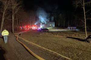 Firefighters responded to a house fire Wednesday night at 45 Litchfield Turnpike in the New Preston section of Washington, Conn.