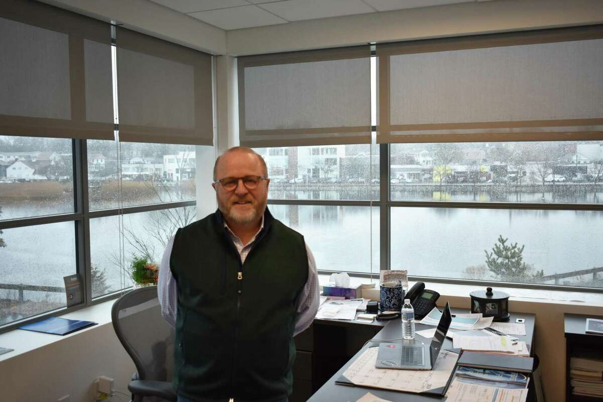 BioSig Technologies CEO Ken Londoner, in February 2020 in the medical device company's office at 54 Wilton Road in Westport, Conn.