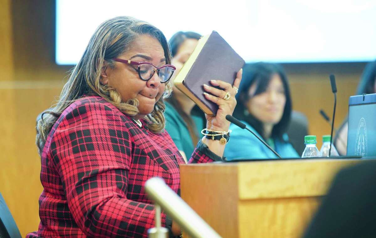 Houston ISD Trustee Kathy Blueford-Daniels, pictured in a January file photo, said she does not support metal detectors in the district's schools, but wants to see added security measures put in place following last month's on-campus shooting at Bellaire High School.