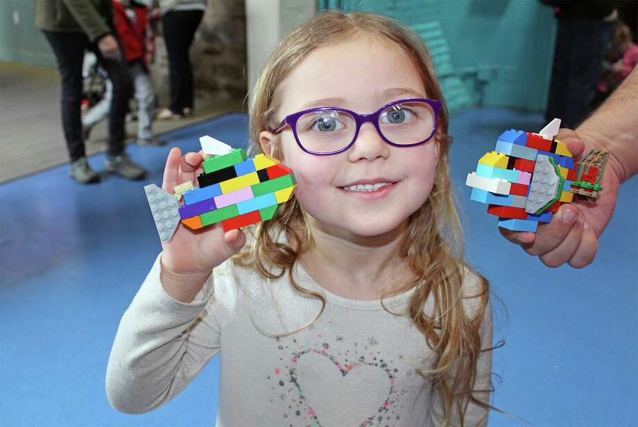 "Kids (and adults) can use LEGO blocks to create marine life for an enormous ocean scene March 7 and 8 during the fourth annual ""LEGO Weekend"" at The Maritime Aquarium at Norwalk. It's free with admission. Photo: Maritime Aquarium / Contributed Photo"