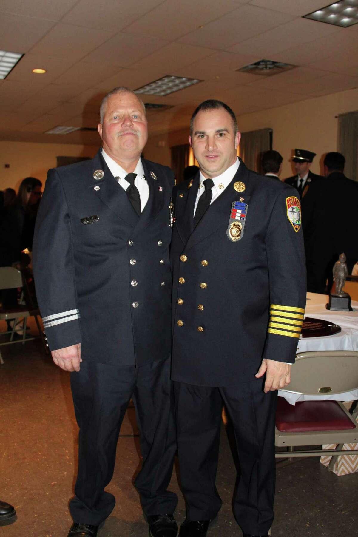 Retired Captain Mike Rowan andChief Alex Rauso