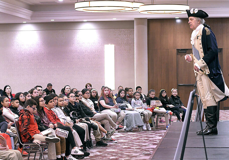 Borchers Elementary students had an opportunity to attend a performance by John Lopes and Carol Spacht portraying George and Martha Washington at the TAMIU Student Center Ballroom, Thursday, February 13, 2020. Photo: Cuate Santos/Laredo Morning Times