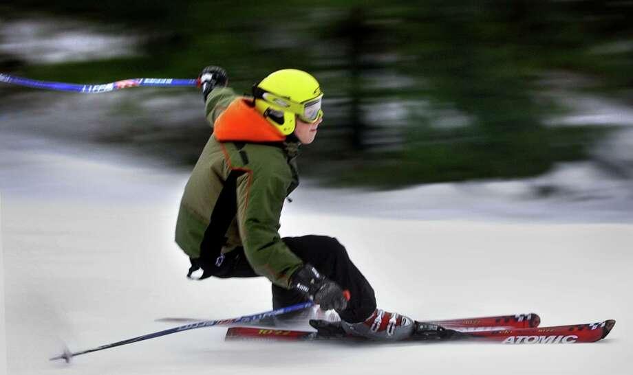 A skiier takes a trail at Ski Sundown. Photo: Melanie Stengel / File Photo / Hearst Connecticut Media
