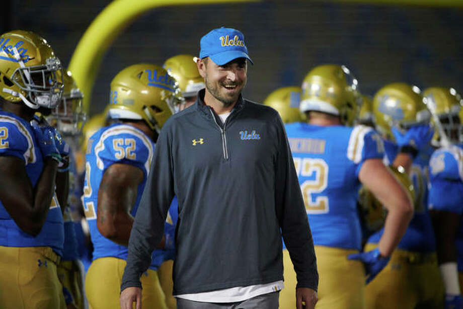 Jimmie Dougherty, a 1997 Edwardsville High School graduate, is entering his fourth year as the wide receivers coach at UCLA and his 19th year as a college coach. Photo: For The Intelligencer