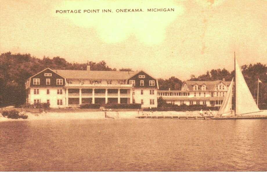 The historic Portage Point Inn located in Onekama, circa 1930s.