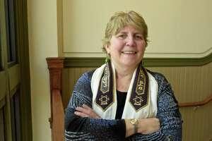 Rabbi Laurie Gold, of Temple Beth Elohin, Brewster, New York, Thursday, March 28, 2019. Danbury, Conn.
