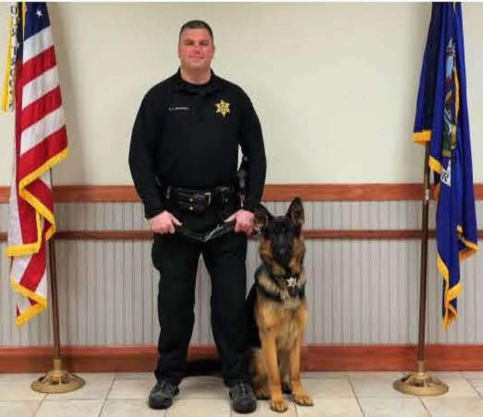 Deputy C.J. Brownell and Johnny