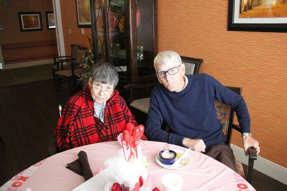 Mr. and Mrs. Dutcher are celebrating their 20th Valentine's Day together. Photo: Sara Eisinger/Huron Daily Tribune