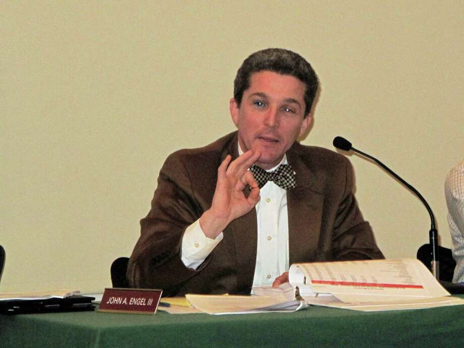 "Town Councilman John Engel, seen here in a file photo, said cutting $100,000 from the New Canaan Board of Education's budget sent the wrong signal, and was an arbitrary amount. ""I do have a problem going through a six month disciplined process and then throwing a number at the wall and saying you figure it out,"" Engel said. Photo: Tyler Woods / Hearst Connecticut Media / New Canaan News"