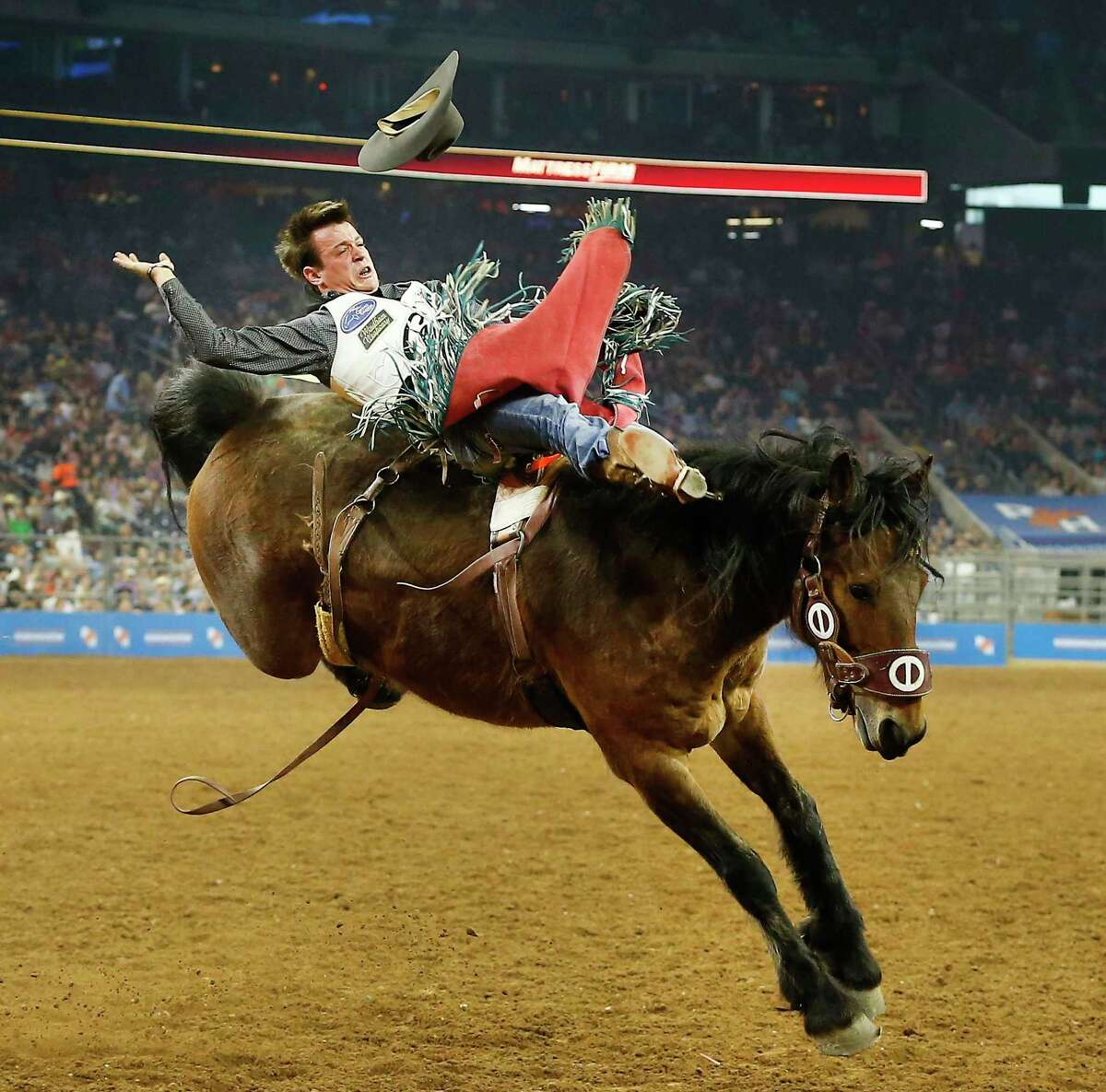 Tim O'Connell performs during RodeoHouston Super Shootout: North America's Champions action Sunday, March 18, 2018, in Houston. ( Steve Gonzales / Houston Chronicle )