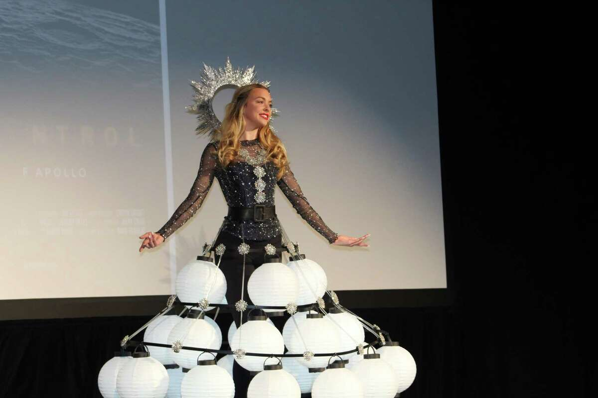 The fourth annual Inspire Film Festival was one of the last large events in 2020 before the COVID-19 pandemic hit. This model was part of the usual fashion show, which features homemade dresses that represent each of the films being shown at the festival. The festival is expected to return to The Woodlands in 2022.