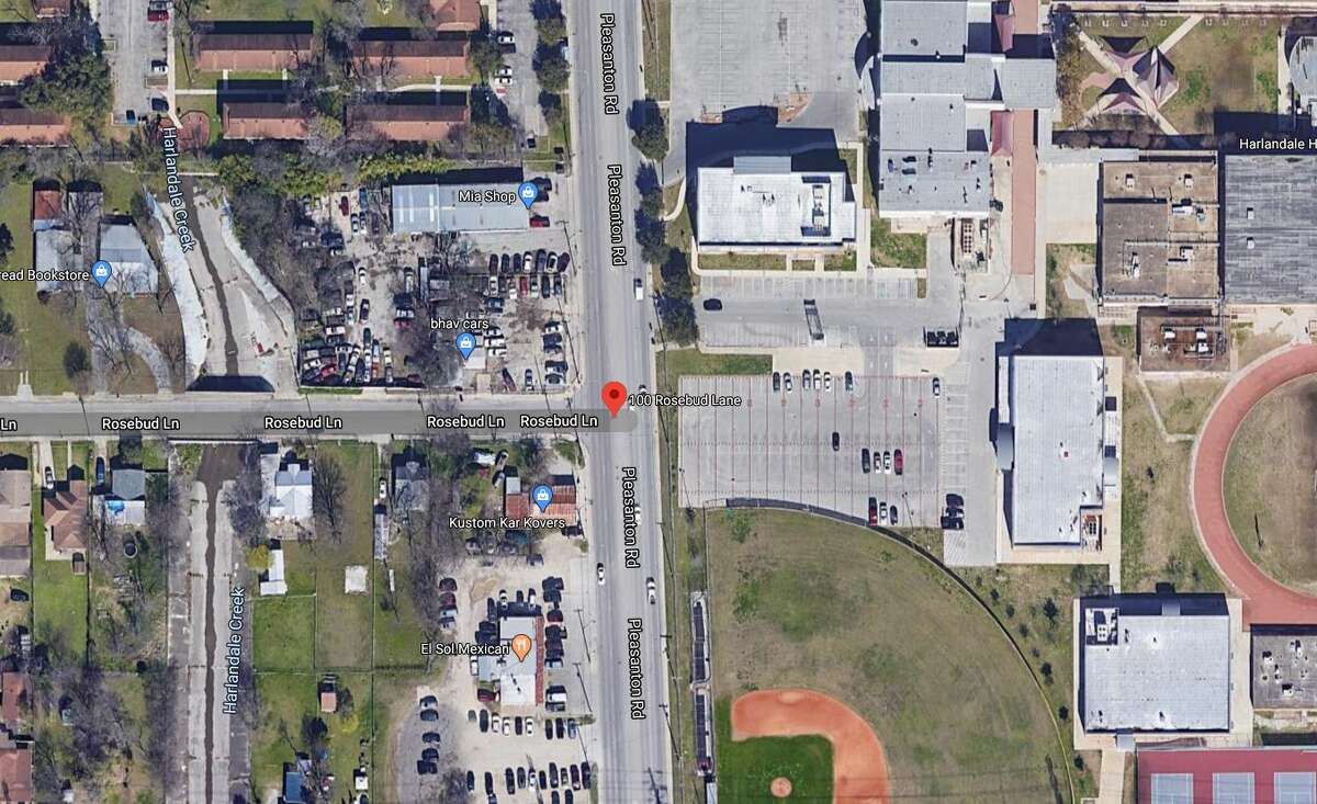 A 15-year-old male was arrested Friday in connection with the body of a man found dead near Harlandale High School on Tuesday, San Antonio police said. The map shows the approximate location of the incident.