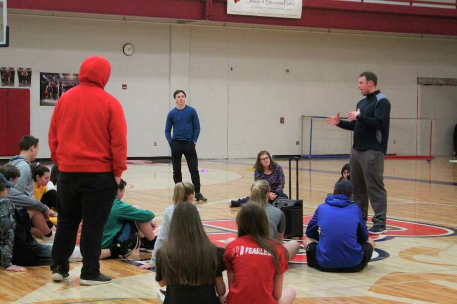 At Big Rapids High School, students gather in the gym for their physical education course. If passed, Senate Bill 600 could do away with this as a required course. (Pioneer photos/Catherine Sweeney)