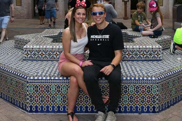 Alex Rapanos poses with girlfriend Amanda Greene, also a Midland native.