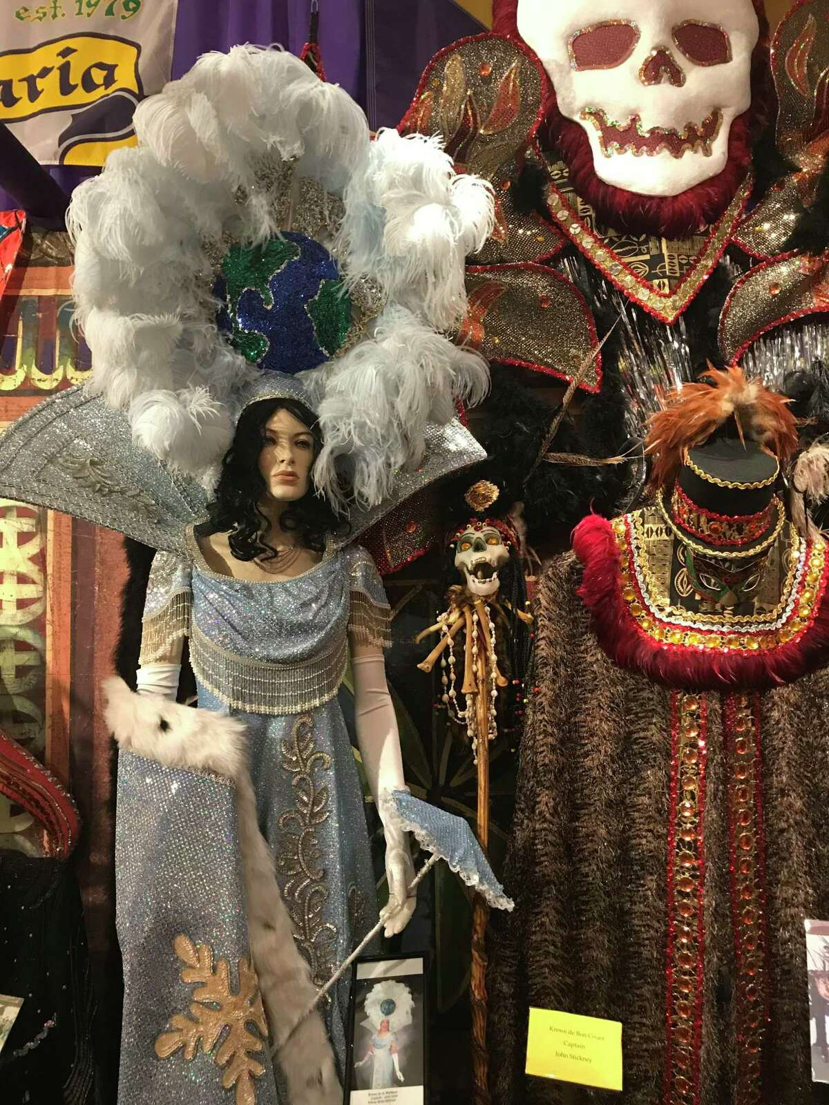 The Mardi Gras Museum of Imperial Calcasieu in Lake Charles, Louisiana, displays nearly 300 costumes and depicts the history of Mardi Gras in the area.