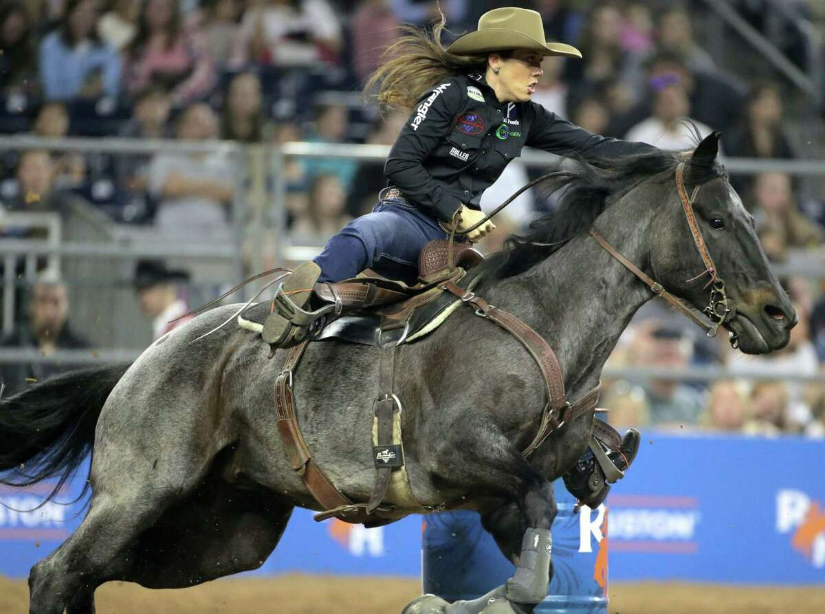 Nellie Williams-Miller and her horse, Sister, have won the barrel racing competition two years in a row.