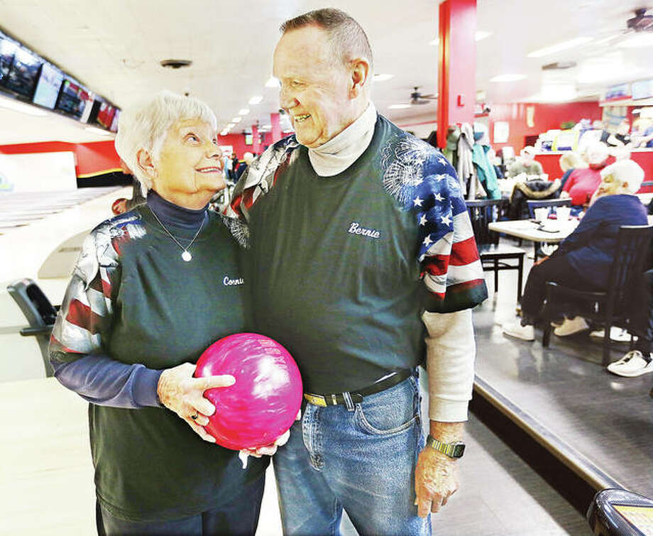 Connie and Bernie Caldwell of Alton, who will celebrate 63 years of marriage in November, spent part of their Valentine's Day hitting the lanes with the senior bowling league at Bowl Haven Lanes at 3003 Washington Ave., Alton. The couple shared some smiles and an active afternoon with the group.