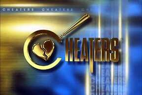 Logo for the show 'Cheaters'