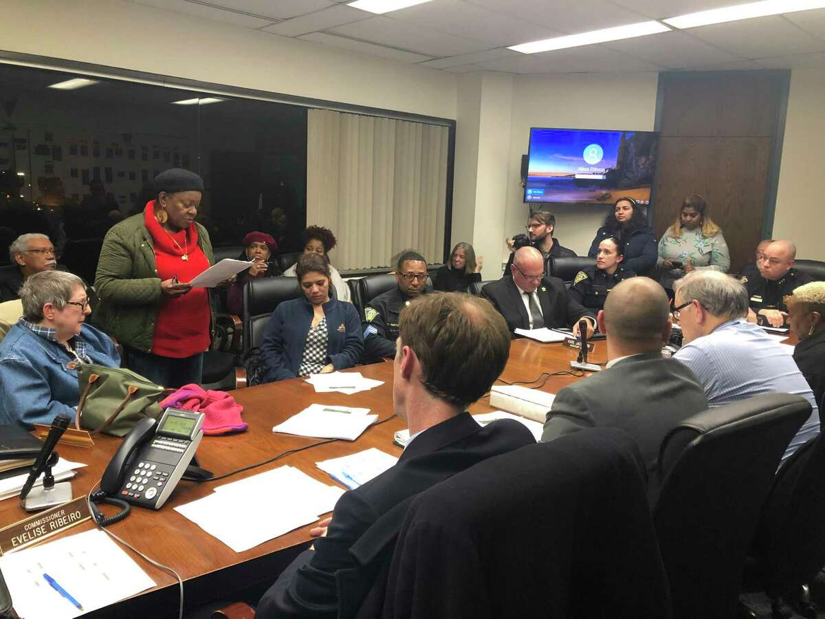 The New Haven Police Commission agreed to hold meetings outside of the Union Avenue police station after the idea was raised by Mayor Justin Elicker and activist Barbara Fair, among others.