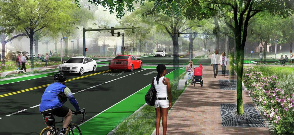 The reconstruction of Walnut Bend between Westheimer and Westpark in the Westchase District includes the addition of bike lanes, 6 foot sidewalks and new storm sewers. The $20 million project began in August 2019. It is targeted for completion in spring 2021.