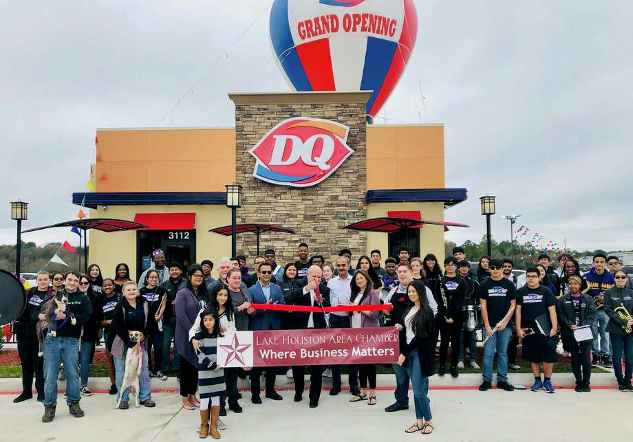 Fast-food chain Dairy Queen held a ribbon cutting on Saturday, Feb. 8 at the new store in Humble. The ribbon-cutting was done by the Mayor of Humble Meryl Arron and the Humble High School Band performed outside. Photo: Courtesy / Courtesy