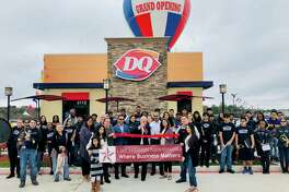 Fast-food chain Dairy Queen held a ribbon cutting on Saturday, Feb. 8 at the new store in Humble. The ribbon-cutting was done by the Mayor of Humble Meryl Arron and the Humble High School Band performed outside.