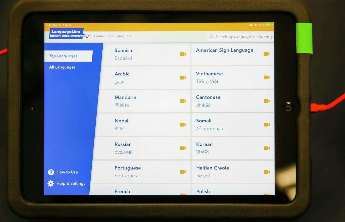 Voters who speak one of 30 languages other than English will be able to use the new multilingual visual poll worker system unveiled by Harris County Clerk Diane Trautman unveiled Friday. The system allows voters and poll workers to use an iPad to speak to interpreters.