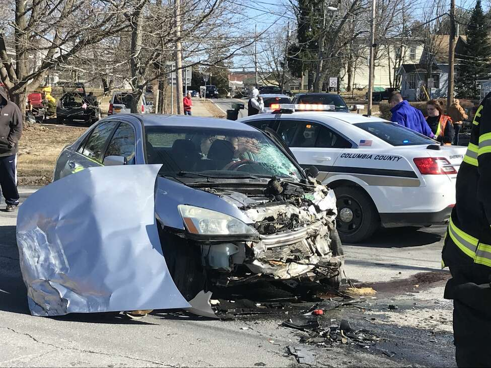 The Columbia County sheriff's department investigates Stockport crash on Feb. 14, 2020