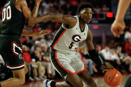 Georgia freshman guard Anthony Edwards is projected as an NBA lottery pick, pegged by some to go first overall in the draft. He lit up Texas A&M for 29 points and 15 rebounds in the teams' first meeting.
