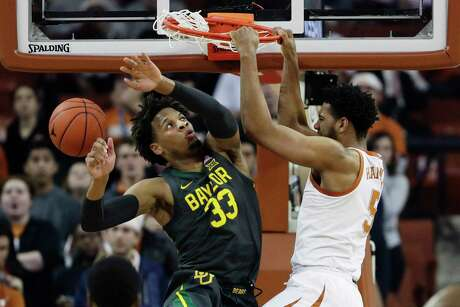 After a strong showing against No. 1 Baylor, Texas' Royce Hamm (right) figures to be leaned on more against Iowa State.