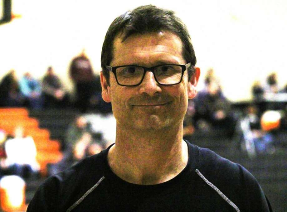 Harbor Beach Athletic Director Troy Schelke, shown above at Thursday night's girls basketball game, is particularly proud of the Pirates varsity volleyball team's 2019 league championship. Photo: Tribune File Photo