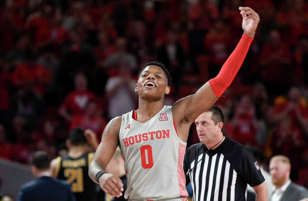 Marcus Sasser, during the Cougars' win over Wichita State, is the next in line of a basketball family.