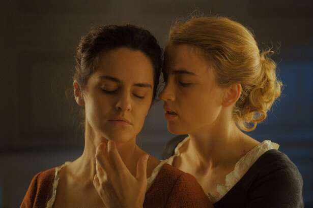 Adele Haenel and Noemie Merlant in the film, 'Portrait of a Lady on Fire.' (Lilies Films/TNS)