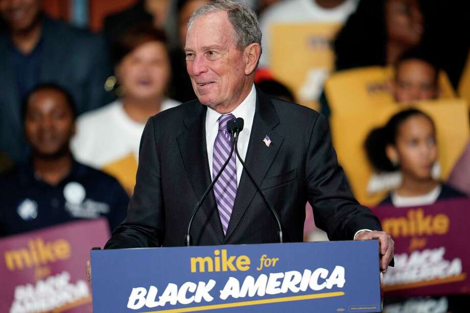 "Democratic presidential candidate and former New York City Mayor Michael Bloomberg speaks during his campaign launch of ""Mike for Black America,"" at the Buffalo Soldiers National Museum, Thursday, Feb. 13, 2020, in Houston. (AP Photo/David J. Phillip) Photo: David J. Phillip, STF / Associated Press / Copyright 2020 The Associated Press. All rights reserved."