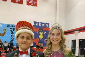 Bear Lake's Fabian Aguilar and Shaely Waller were crowned the school's Homecoming King and Queen for 2020 on Friday during a ceremony held at halftime of the Lakers' varsity boys basketball game against Pentwater.