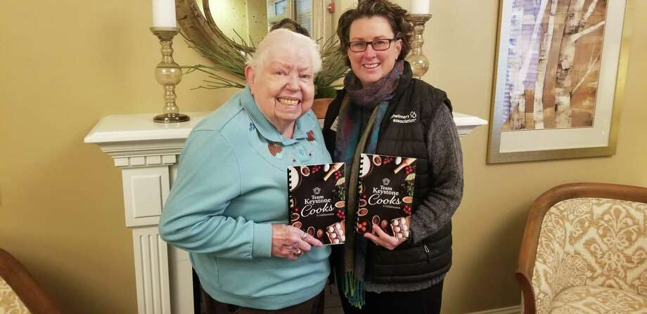 From left are Patti Kwashnak, Keystone Place at Newbury Brook resident, and Tina Hogan, Development Manager, Alzheimer's Association Connecticut Chapter. Photo: Keystone Place / Contributed Photo