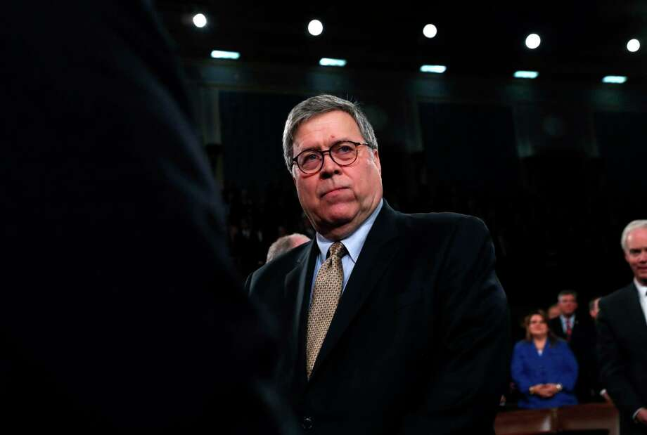 El secretario de Justicia de EE.UU., William Barr, llega al recinto del Congreso en Washington para asistir al discurso del presidente Donald Trump sobre el Estado de la Unión, 4 de febrero de 2020. Photo: Leah Millis /Associated Press / Pool Reuters